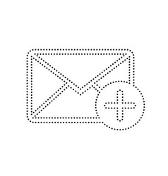 mail sign with add mark vector image