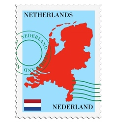 Mail to-from Netherlands vector