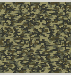 military green camouflage seamless pattern vector image