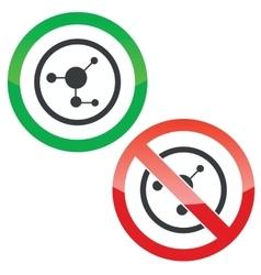 Molecule permission signs vector image