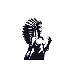 Native american woman vector