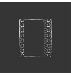 Negative Drawn in chalk icon vector