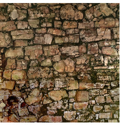 Old stone wall vector