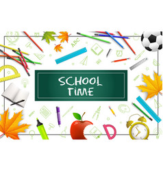 realistic school colorful concept vector image