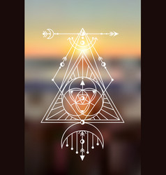 sacred geometry blurred sea vector image