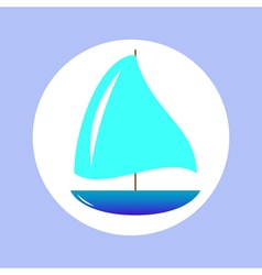 sailing ship in circle vector image vector image