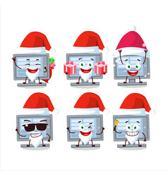 Santa claus emoticons with among us monitor vector