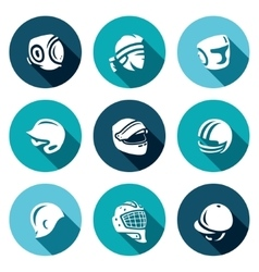 Set of Sports hat cap and headband Icons vector