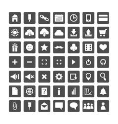 Set of web icons for business and communication vector