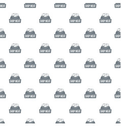 shop meat pattern seamless vector image