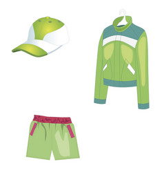 sportswear for summer sports and warm weather vector image