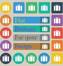 suitcase icon sign Set of twenty colored flat vector image