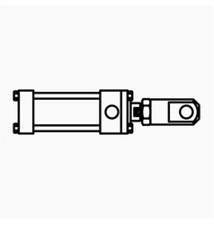 Ta cylinder icon vector