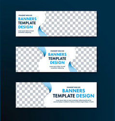 Template of white web banners of a standard size vector