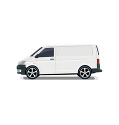 the cargo minivan side view volumetric drawing vector image