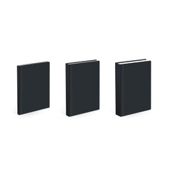 Three different size black books vector image
