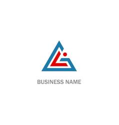 triangle line shape company logo vector image