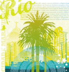 tropical urban landscape vector image