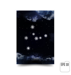 virgo constellation of snowflakes zodiac sign vector image