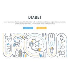 Website banner and landing page diabet vector