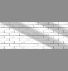 White brick wall tiles vector