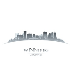 Winnipeg manitoba canada city skyline silhouette vector