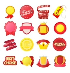 Award icons set cartoon style vector image