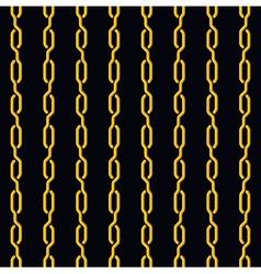 Fashion seamless pattern golden chain on dark vector image