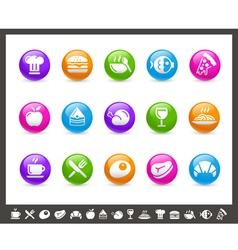Food Icons Set 1 of 2 Rainbow Series vector image