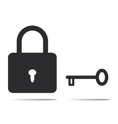 lock and key icon vector image