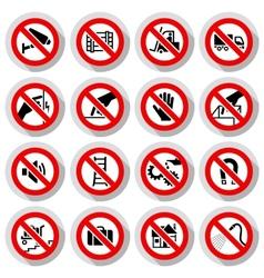 Set icons Prohibited symbols vector image vector image