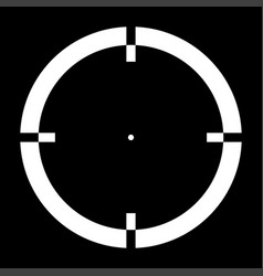 sight it is the white color icon vector image