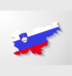 Slovenia map with shadow effect presentation vector image vector image