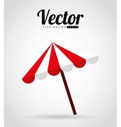 umbrella beach vector image