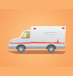 ambulance car flat design vector image vector image