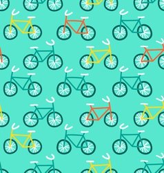 Bicycles pattern vector image