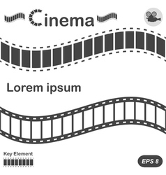 Cinema design elements vector image vector image