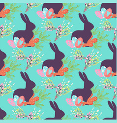 easter seamless pattern background design vector image vector image