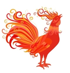 Fire Rooster Symbol of 2017 New Year vector image