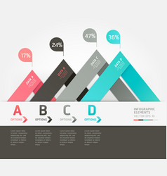 Modern infographics origami style vector image vector image