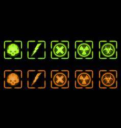 set of industrial icons vector image