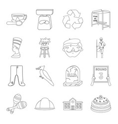sport miner education and other web icon in vector image vector image