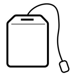 tea bag icon vector image