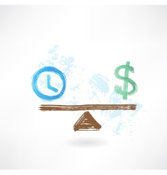 time money balance vector image