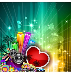 Valentines Day party invitation flyer vector image vector image