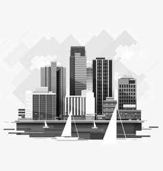 cityscape background for your design urban art vector image