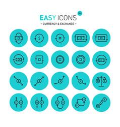 easy icons 11c exchange vector image