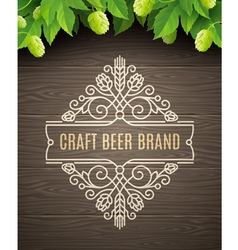 Flourishes beer emblem vector image vector image
