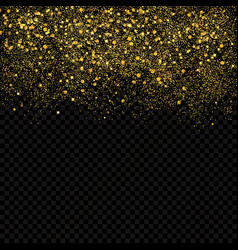 Gold sparkles confetti gold glitter abstract vector