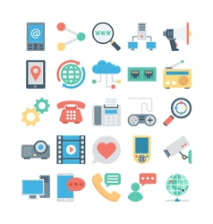 Network and Communication Colored icons 4 vector image vector image